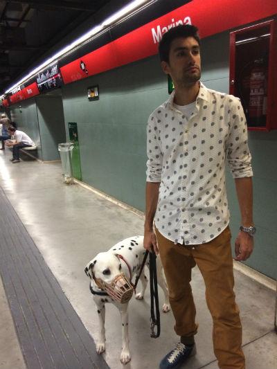 viajar en el metro de Barcelona con un perro