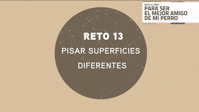 RETO 13: PISAR DIFERENTES SUPERFICIES (2018)