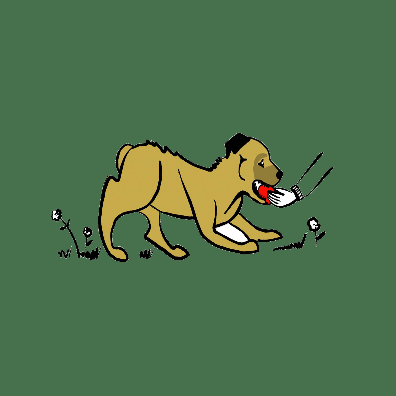 Ilustración Perro Jugando